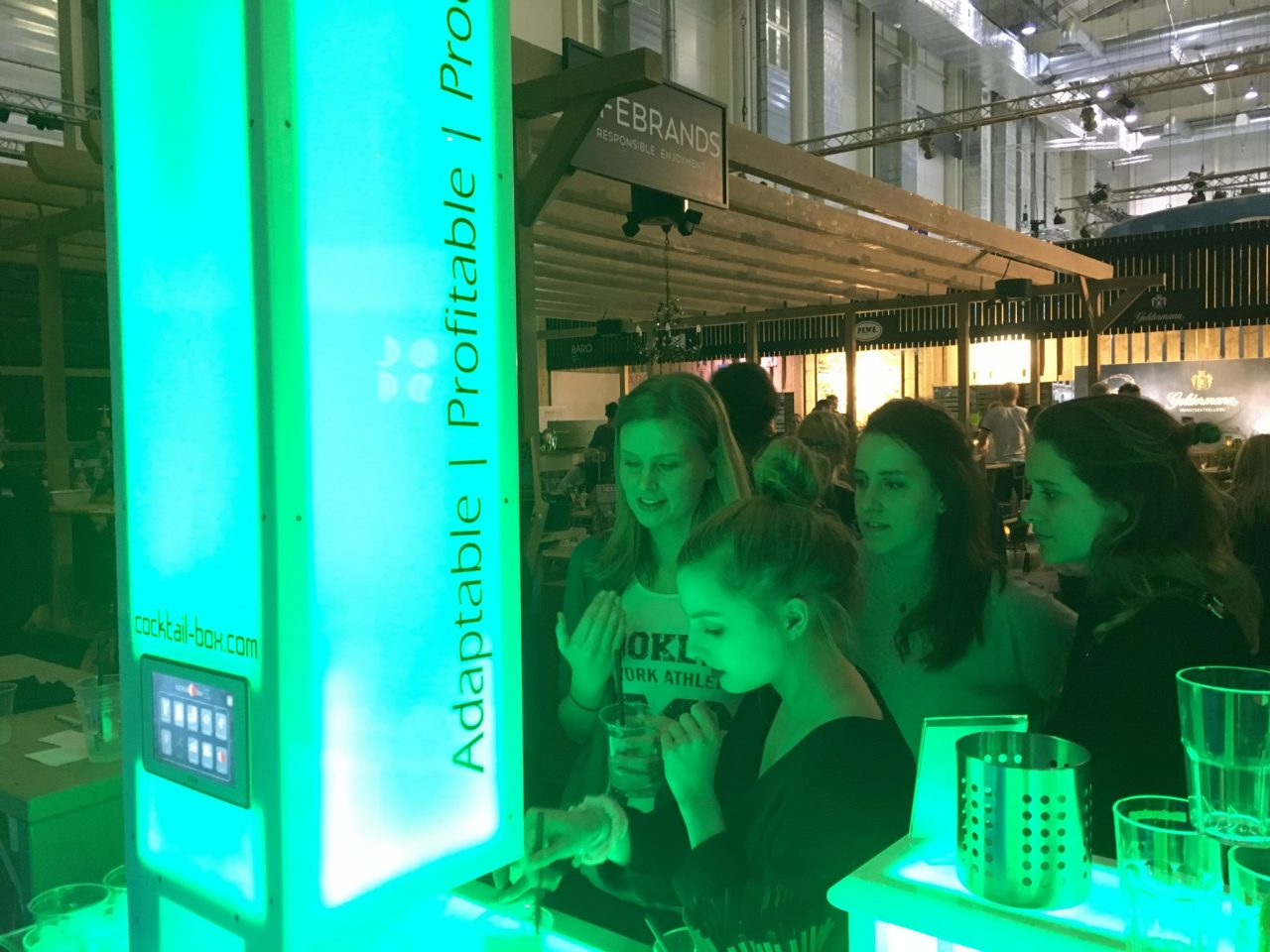 Internorga GenussGarten 2017 und perfekte Cocktail aus der cocktail-box, die Cocktailmaschine und mobile Cocktailbar für besonderes Cocktail-Catering